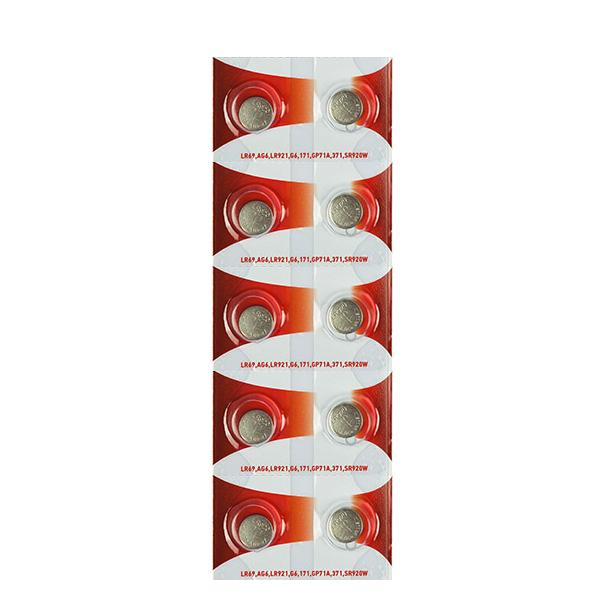Батарейка Rexant LR69/AG6/LR921/G6/171/GP71A/371/SR920W 30-1035 (10 штук)