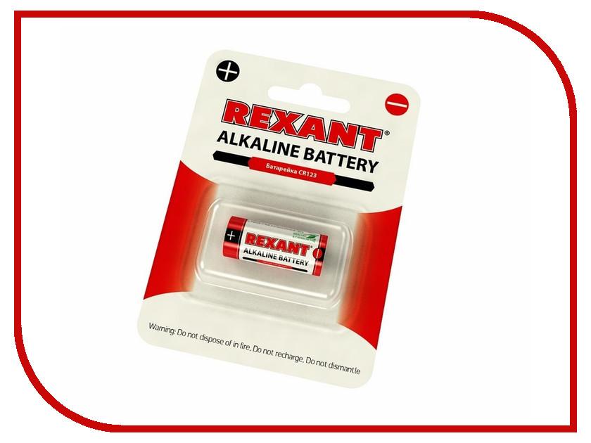 Батарейка CR123 - Rexant 30-1111 (1 штука) батарейка rexant lr45 ag9 lr936 g9 194 gp94a 394 sr936w 30 1032 2 штуки