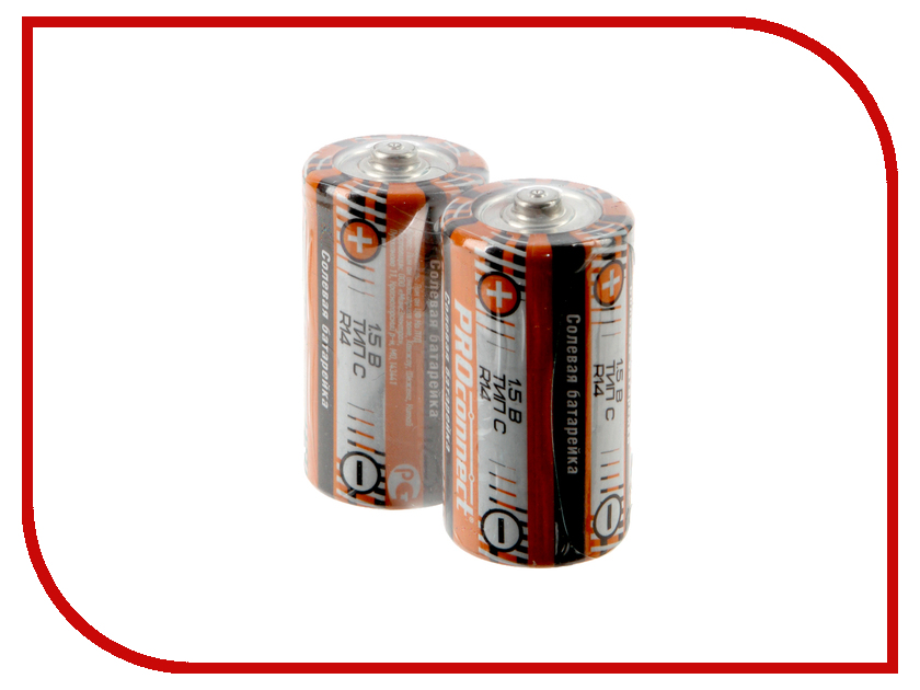 Батарейка C - ProConnect R14 30-0040 (2 штуки)<br>