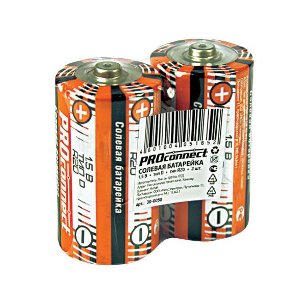 Батарейка ProConnect R20 30-0050 (2 штуки) батарейка proconnect r20 30 0050 2 штуки