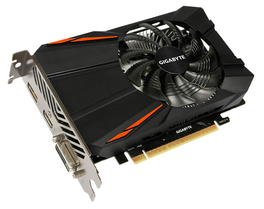 Видеокарта GigaByte GeForce GTX 1050 1354Mhz PCI-E 3.0 2048Mb 7008Mhz 128 bit DVI HDMI HDCP GV-N1050D5-2GD цена