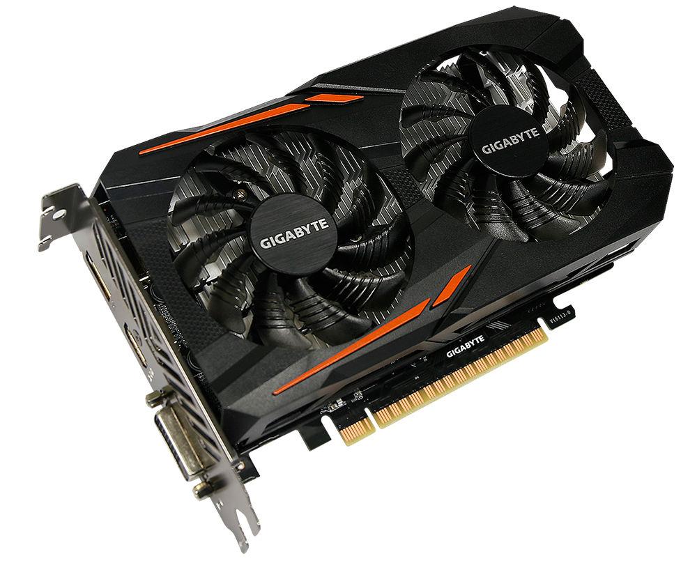 Видеокарта GigaByte GeForce GTX 1050 1379Mhz PCI-E 3.0 2048Mb 7008Mhz 128 bit DVI HDMI HDCP OC GV-N1050OC-2GD видеокарта gigabyte geforce gt 730 902mhz pci e 2 0 2048mb 5000mhz 64 bit dvi hdmi hdcp gv n730d5 2gi