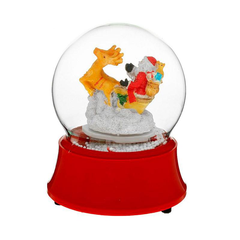 Снежный шар СИМА-ЛЕНД Дед Мороз на оленях 1111426