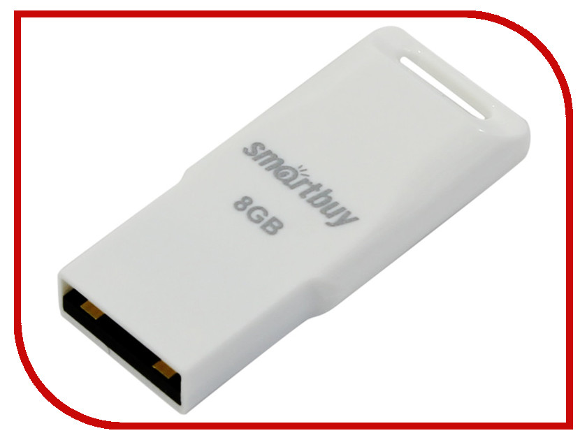 USB Flash Drive 8Gb - SmartBuy Funky Series White SB8GBFu-W<br>