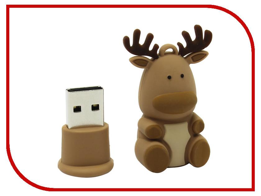 USB Flash Drive 8Gb - SmartBuy NY Series Caribou-Q Brown SB8GBCaribouQ<br>