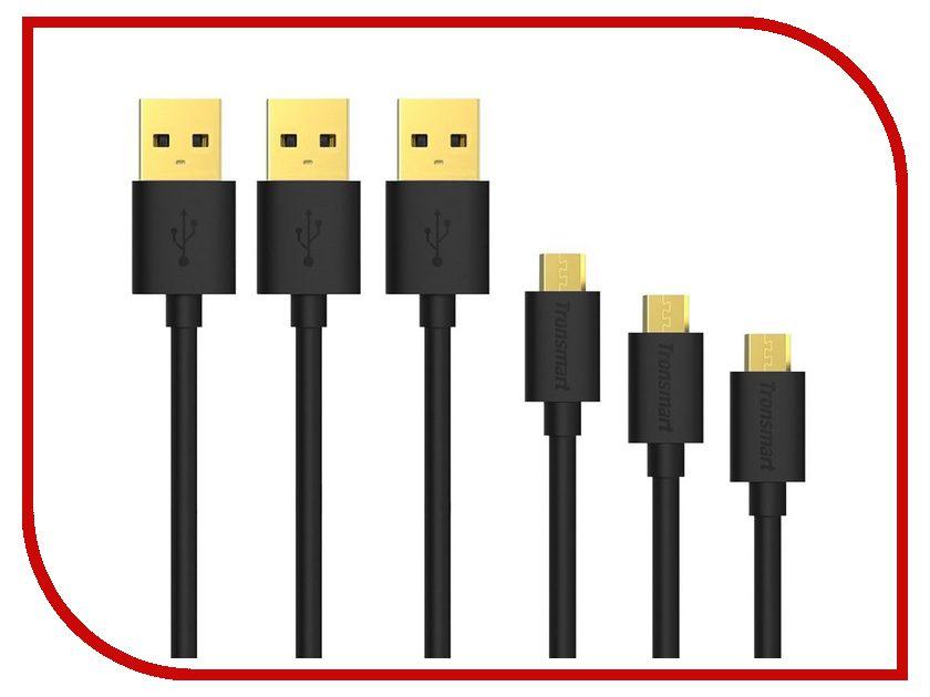 Аксессуар Tronsmart Premium USB - microUSB 3шт Black MUPP6<br>