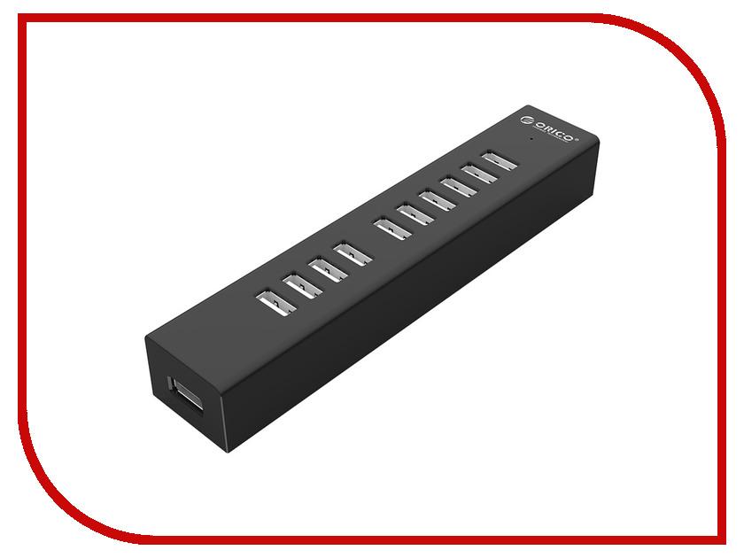 Хаб USB Orico H1013-U2 USB 10-ports Black<br>