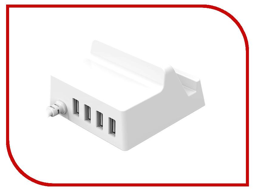 Зарядное устройство Orico CHK-4U USB 4-Ports White<br>