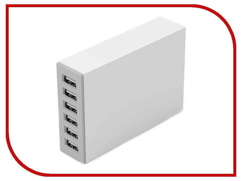 Зарядное устройство Orico CSL-6U USB 6-Ports White<br>