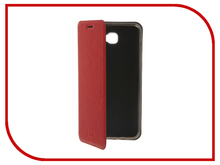 Аксессуар Чехол Samsung Galaxy On5 SM-G550F SkinBox Lux Red T-S-SG550F-003