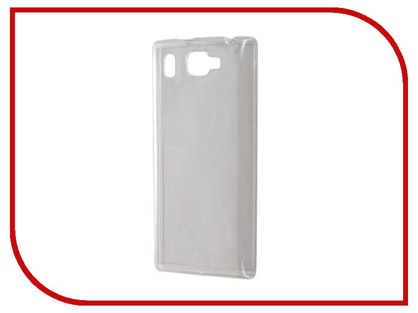 Аксессуар Чехол Prestigio Grace Q5 SkinBox Slim Silicone Transparent T-S-PGQ5-006<br>