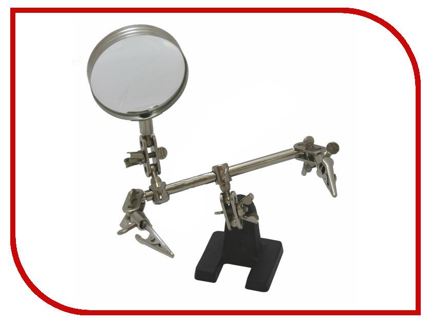 Держатель третья рука Rexant ZD-10D с лупой 3x HT-390 12-0251 зажим для 3динга третья рука с лупой