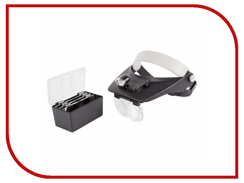 Бинокуляр монтажный Rexant 1.2x / 1.8x / 2.5x / 3.5x с 2xLED подсветкой 12-0402