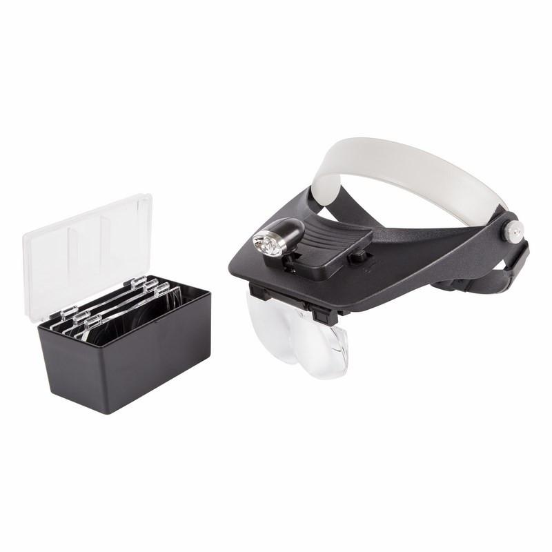 Бинокуляр монтажный Rexant 1.2x / 1.8x 2.5x 3.5x с 2xLED подсветкой 12-0402