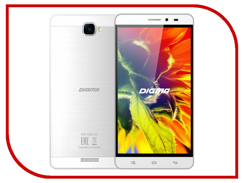 Сотовый телефон Digma Vox S505 3G White смартфоны digma смартфон s505 3g vox белый