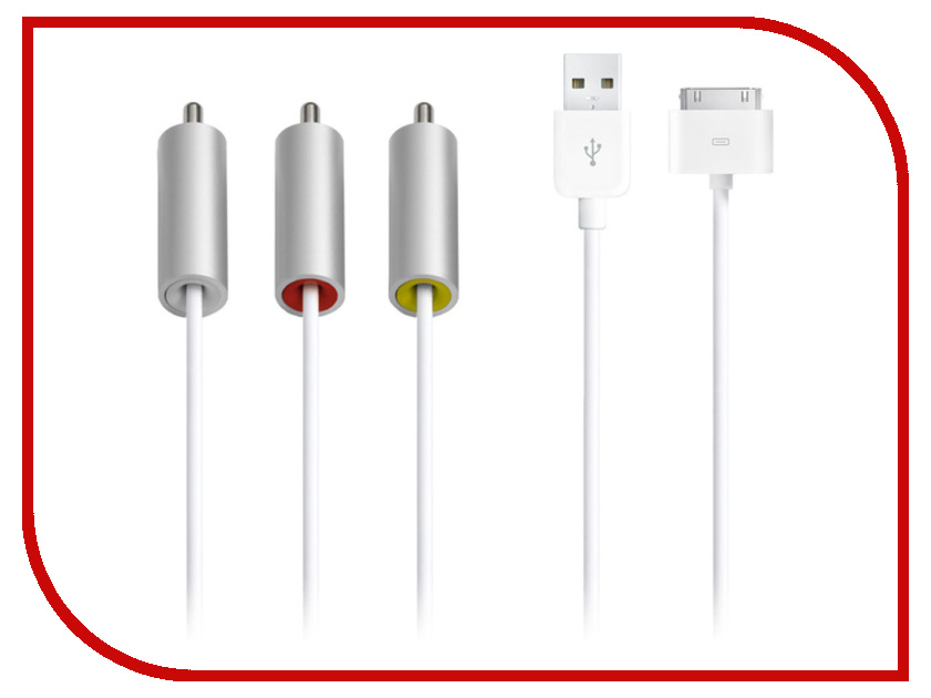 Аксессуар APPLE Audio-Video - Composite AV Cable ZML MC748ZM/A<br>
