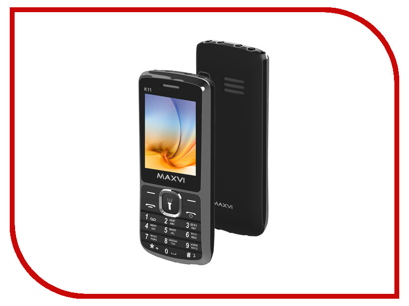 Сотовый телефон Maxvi K11 Black<br>