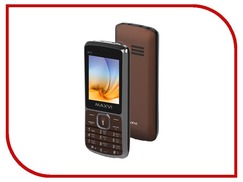 Сотовый телефон Maxvi K11 Brown