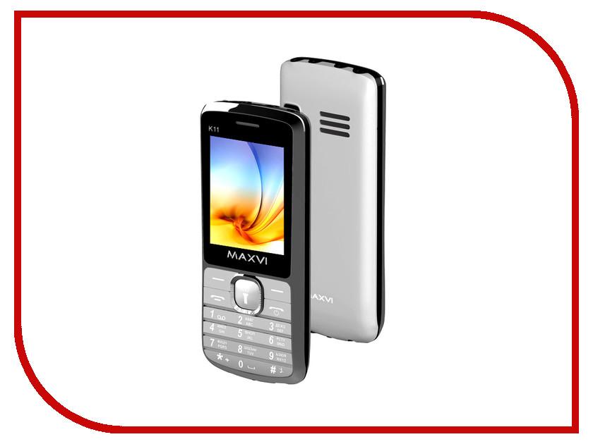 Сотовый телефон Maxvi K11 Silver<br>