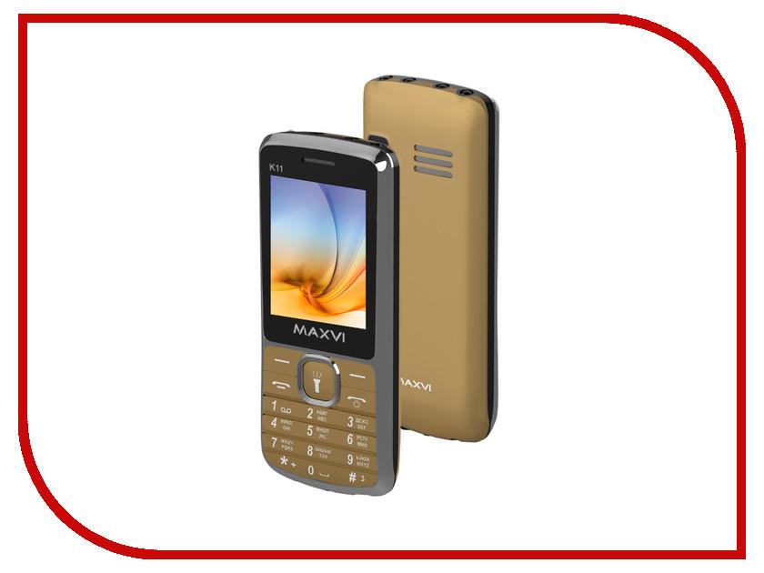 Сотовый телефон Maxvi K11 Gold<br>
