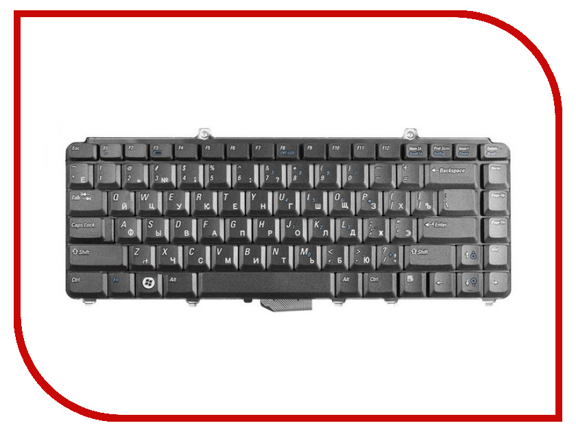 Клавиатура TopON TOP-91520 для DELL Inspiron 1318 / 1420 / 1520 / 1521 / 1525 / 1526 / 1540 / Vostro 500 Series Black