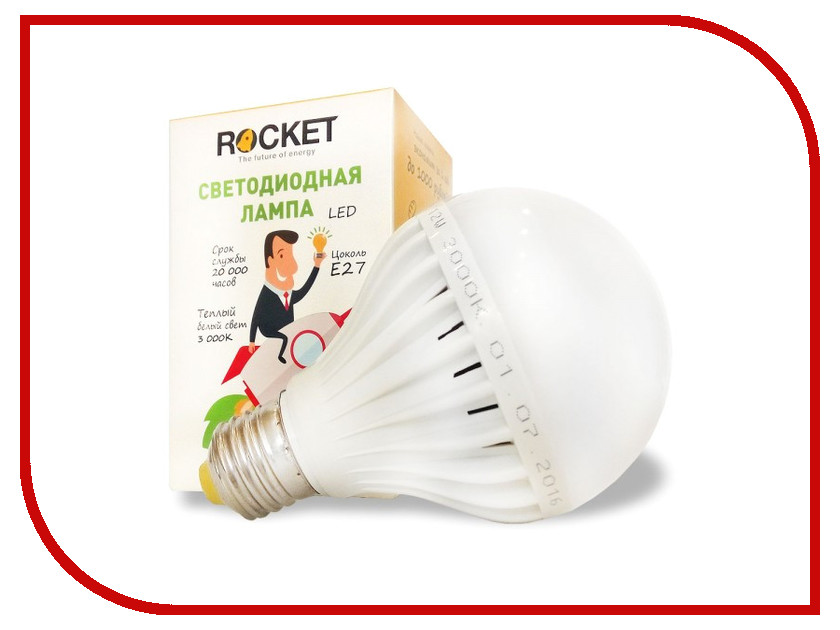 Лампочка Rocket 12W 3000K E27 R12w3000e27<br>