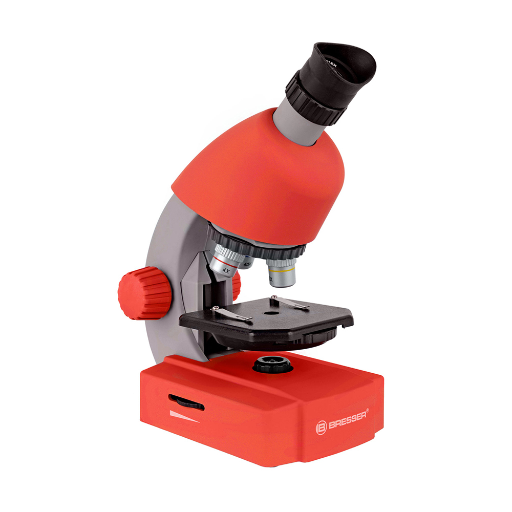 Фото - BRESSER Junior 40-640x с набором для опытов Red габрусева н химия 9 класс тетрадь для лабораторных опытов и практических работ