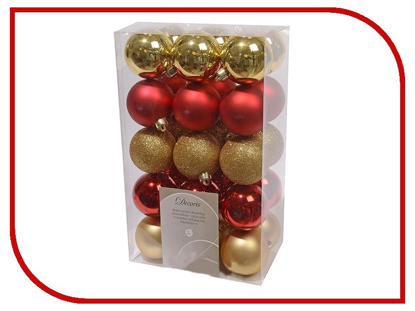 Украшение Kaemingk Набор шаров 30шт Red-Gold Mix 020076 зарядное устройство relato ch p1640 nb12l для canon nb 12l 13l