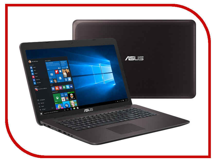 Ноутбук ASUS X756UQ-T4216T 90NB0C31-M02350 (Intel Core i3-6100U 2.3 GHz/6144Mb/1000Gb/DVD-RW/nVidia GeForce 940MX 2048Mb/Wi-Fi/Bluetooth/Cam/17.3/1920x1080/Windows 10 64-bit)<br>