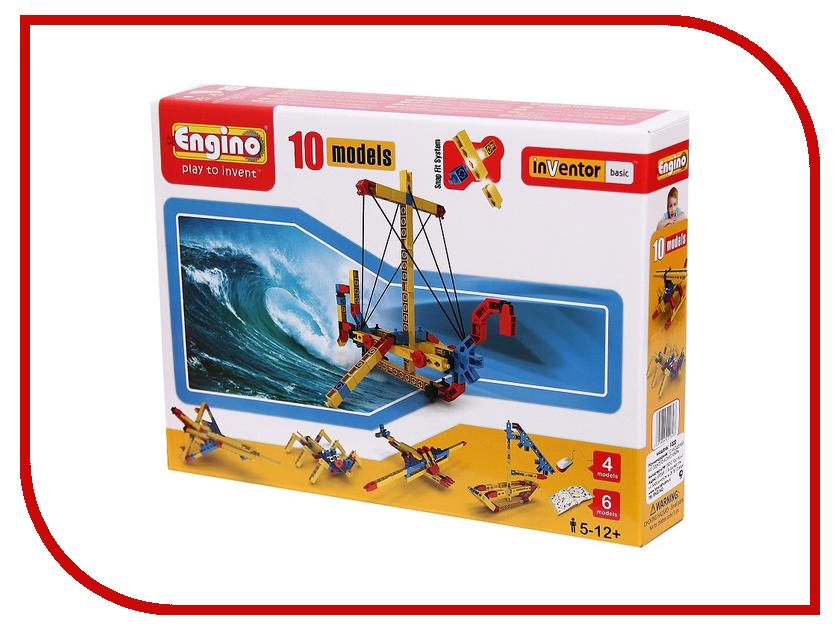 Конструктор Engino База 1020 10 моделей из одного