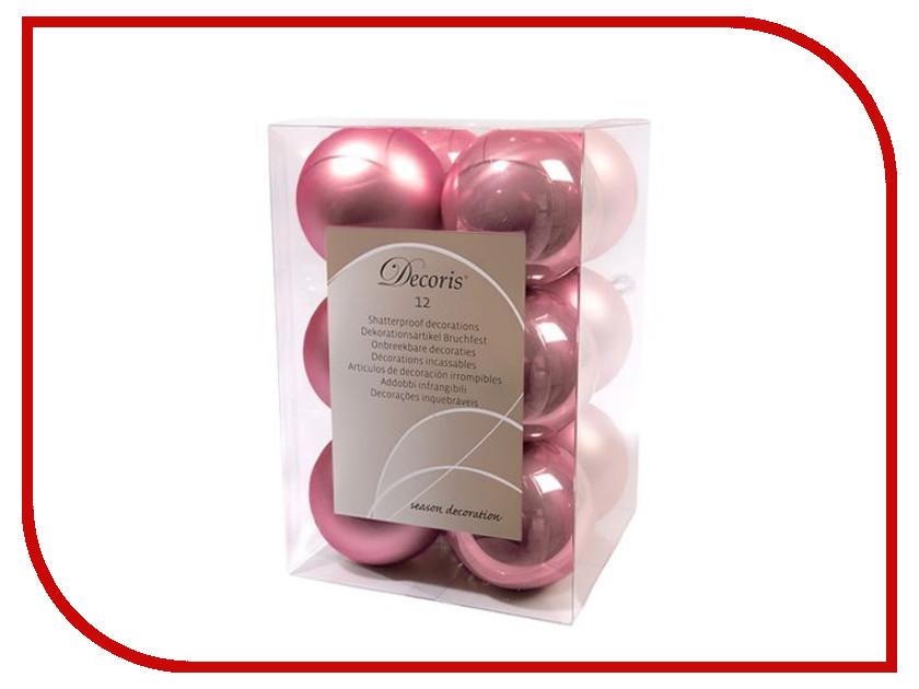 Украшение Kaemingk Набор шаров 12шт Pink Silk 021951