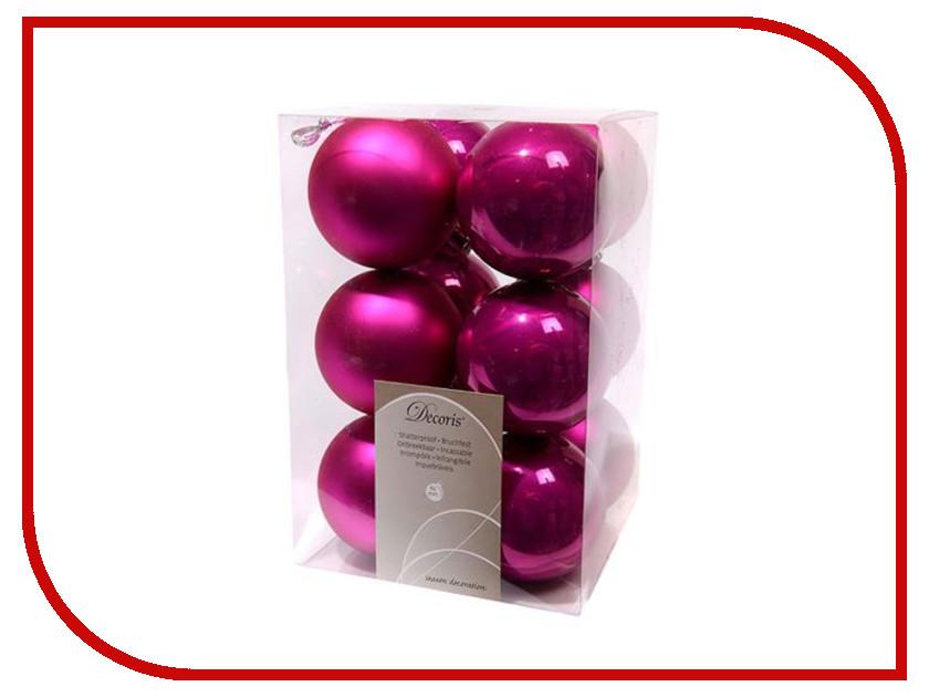Украшение Kaemingk Набор шаров 12шт Fuchsia 021967