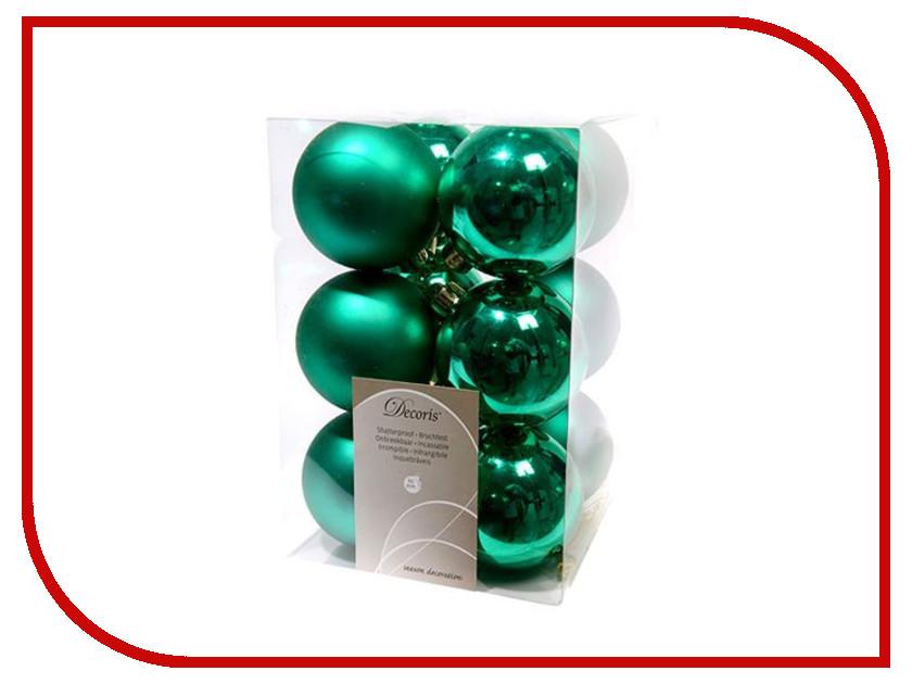 Украшение Kaemingk Набор шаров 12шт Emerald 021971