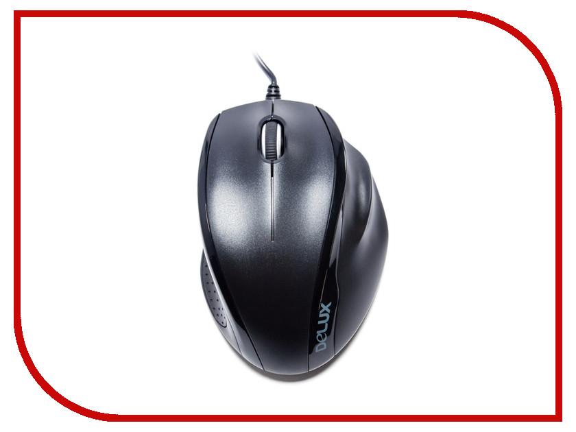 Мышь проводная Delux DLM-396OUB Black<br>