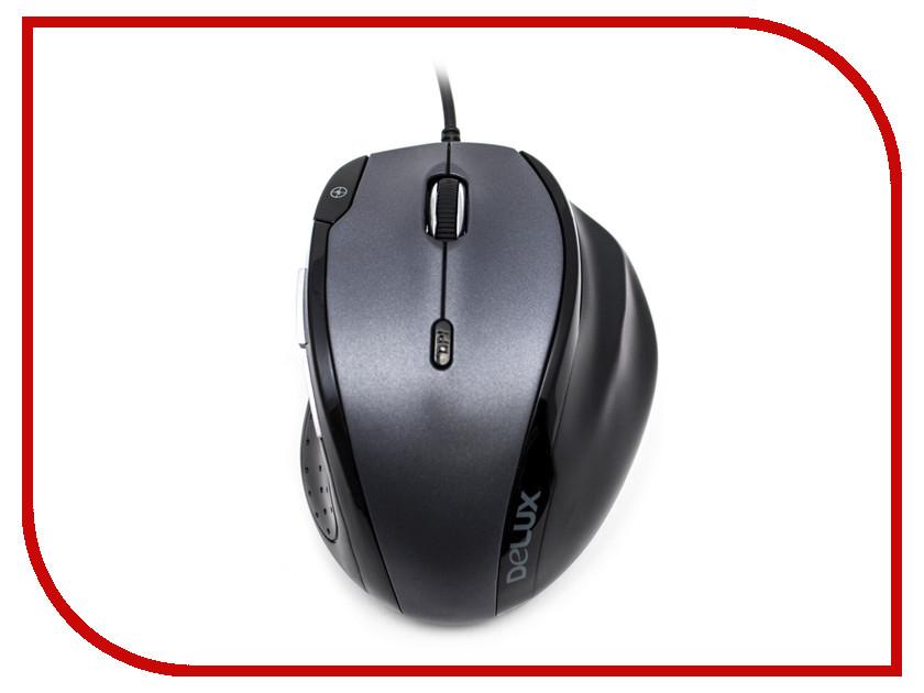 Мышь проводная Delux DLM-620OUB Black-Grey<br>