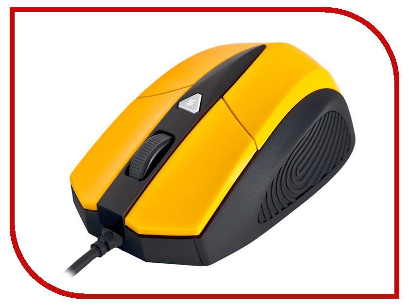 Мышь проводная Delux DLM-480LUY Yellow-Black<br>