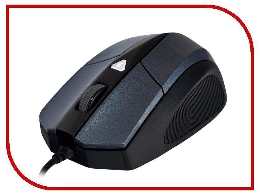 Мышь проводная Delux DLM-480LUQ Grey-Black<br>