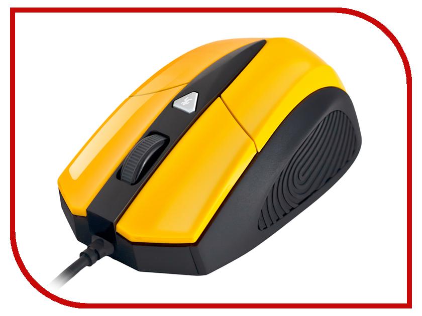 Мышь проводная Delux DLM-480OUY Yellow-Black<br>