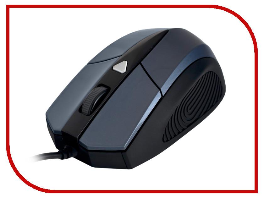 Мышь проводная Delux DLM-480OUQ Grey-Black<br>