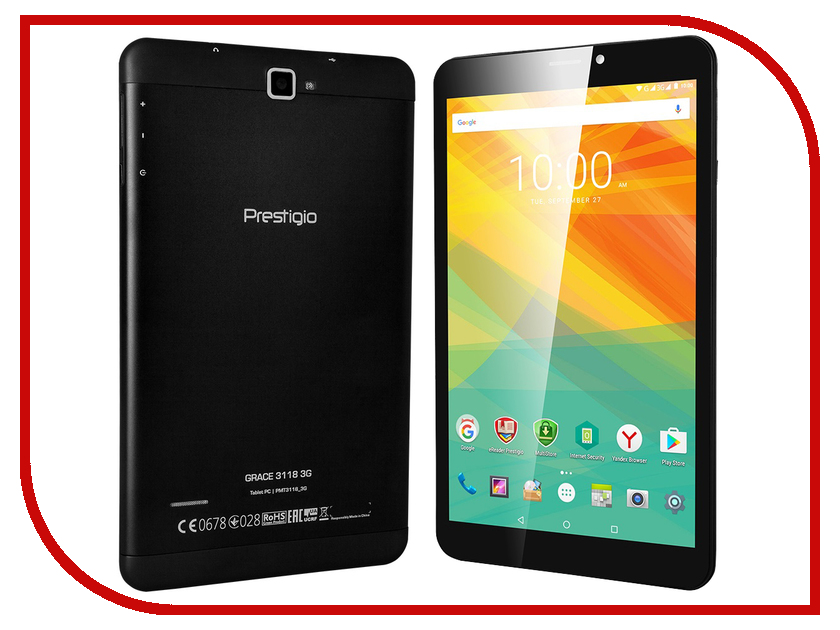 Планшет Prestigio MultiPad Grace 3118 PMT31183GCCIS Black (MediaTek MT8321 1.2 GHz/1024Mb/8Gb/Wi-Fi/Bluetooth/Cam/8.0/1280x800/Android) планшет prestigio grace pmt3201 4g mediatek mt8735 1 0 ghz 2048mb 16gb gps lte wi fi bluetooth cam 10 1 1280x800 android