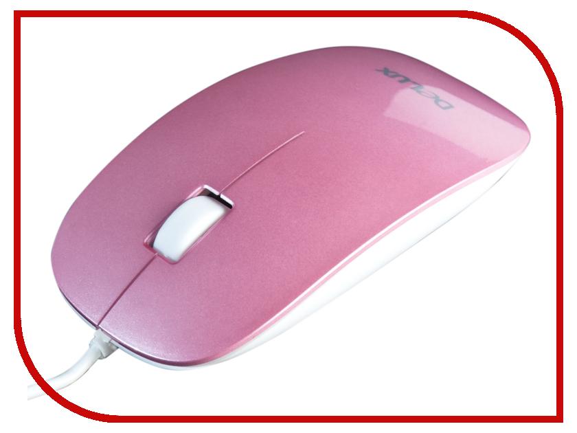 Мышь проводная Delux DLM-111OUP Pink<br>