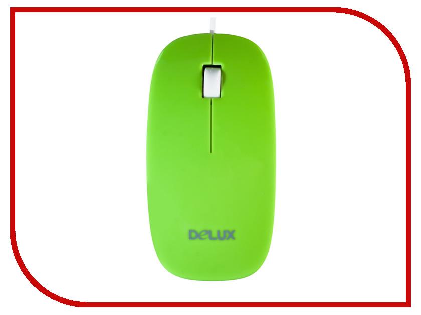 Мышь Delux DLM-111OUG Green колонка delux dls q10bb