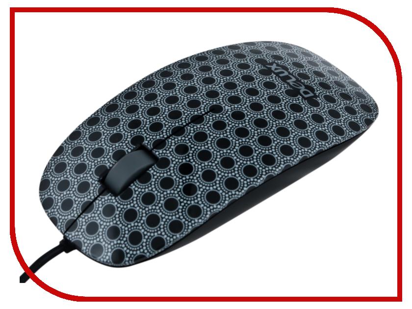 Мышь проводная Delux DLM-111OUM Black<br>