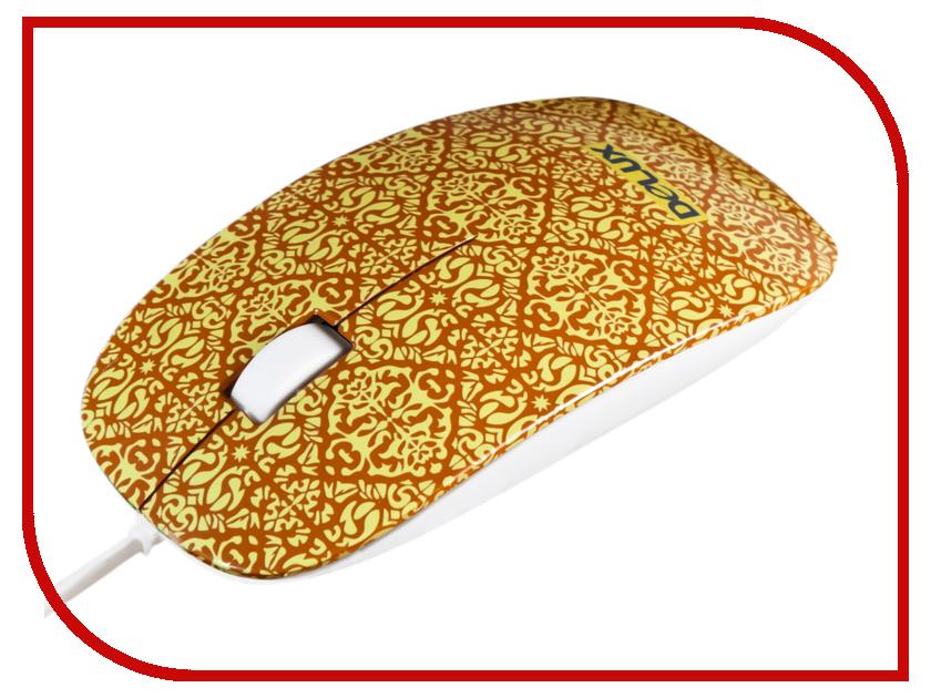 Мышь проводная Delux DLM-111OUY Yellow<br>