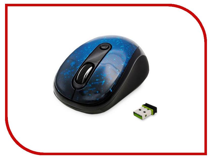 Мышь беспроводная Delux DLM-130OGE Blue<br>