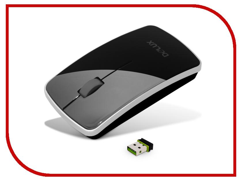 Мышь беспроводная Delux DLM-125OGB Black<br>