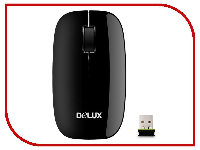 Мышь беспроводная Delux DLM-110OGB Black<br>