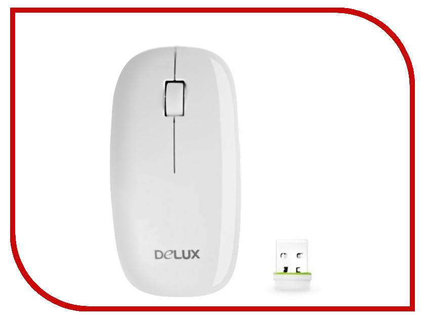Мышь беспроводная Delux DLM-111LGW White<br>