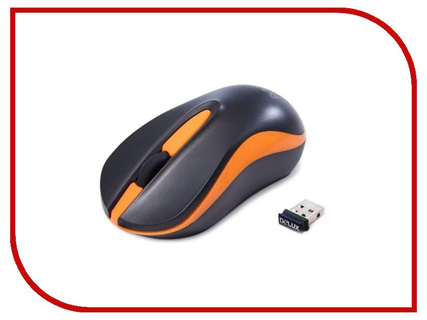 Мышь беспроводная Delux DLM-137OGB Black<br>