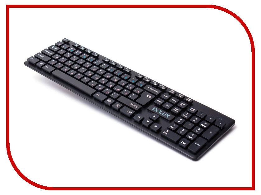 Клавиатура беспроводная Delux DLK-150GB Black